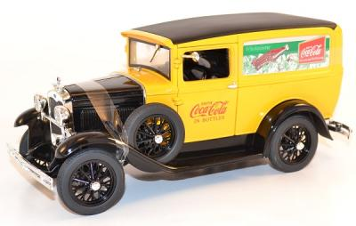 Ford model A 1931 delivery Coca Cola yellow Motor city 1-18 Mcity425752