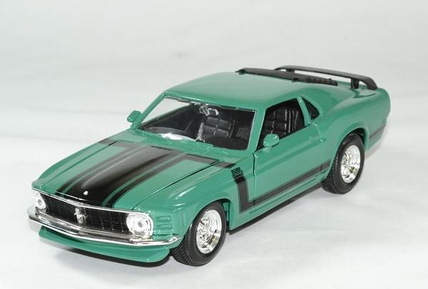 Ford mustang 1970 boss 302 verte 1 24 maisto autominiature01 1