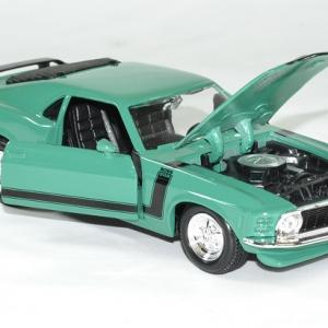 Ford mustang 1970 boss 302 verte 1 24 maisto autominiature01 4