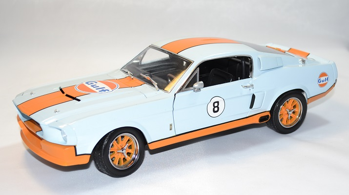 Ford mustang gt 500 shelby gulf 1967 greenlight 1 18 autominiature01 1