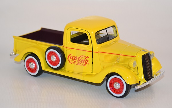 Ford pick up 1937 jaune coca cola 1 24 433213 autominiature01 com 2