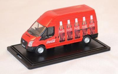 Ford Transit rouge déco bouteilles Coca Cola 1/76 Oxford