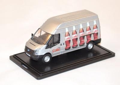 Ford Transit silver Coca Cola light delivery 1/76 Oxford