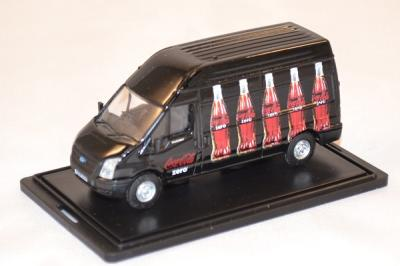 Ford Transit black Coca Cola zero delivery 1/76 Oxford