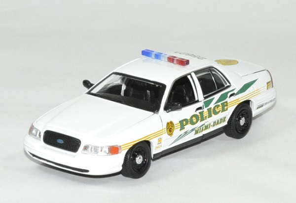 Frod crown victoria police csi miami 1 43 greenlight autominiature01 1
