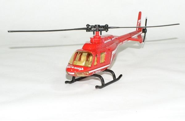 Helicoptere securite civile pompier bburago 1