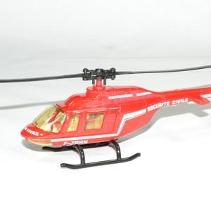 Helicoptere securite civile pompier bburago 2