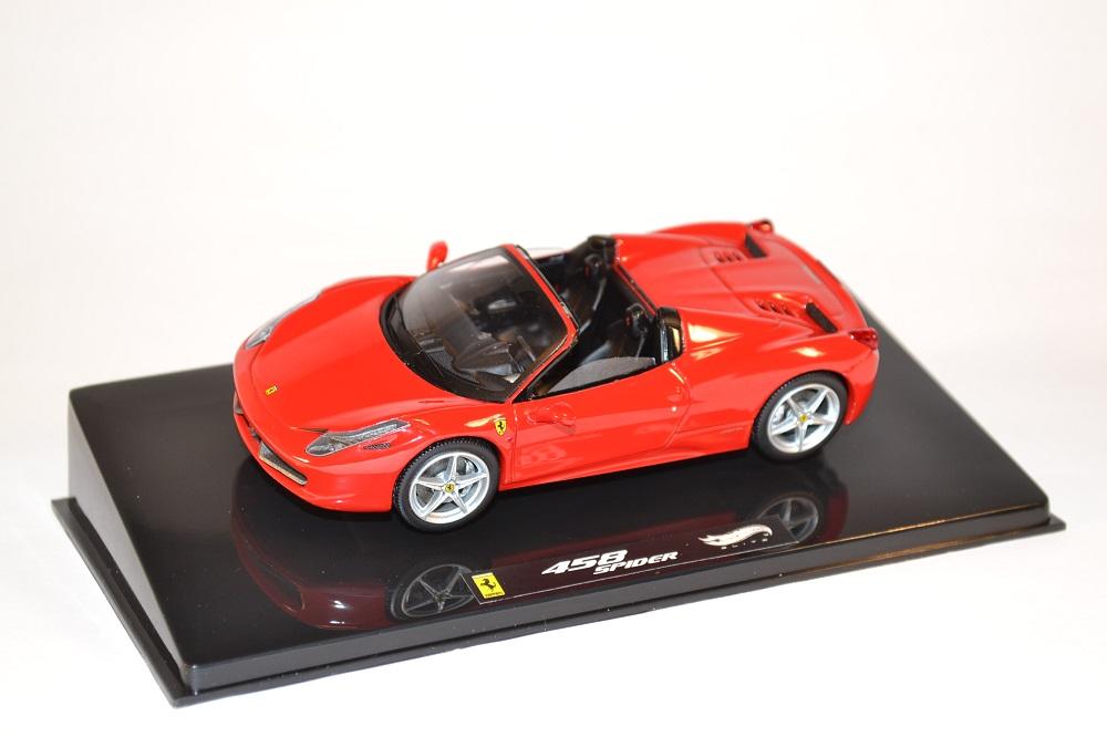 Ferrari 458 Italia Spider Miniature Hotwheels Elite 1 43