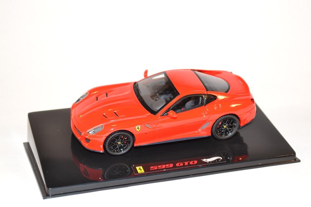 Hotwheels elite 1 43 ferrari 599 gto miniature gt automobile autominiature01 2
