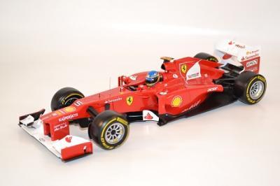 Ferrari F1 2012 F. Alonso #5 miniature Hotwheels au 1/18