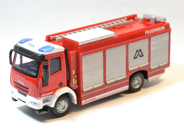 iveco magirus rw pompiers camion miniature bburago 1 43. Black Bedroom Furniture Sets. Home Design Ideas