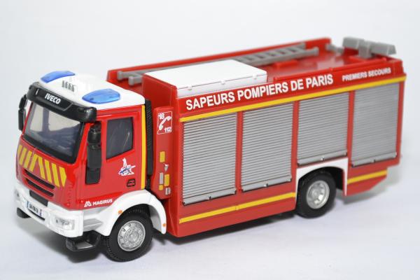 Iveco magirus rw sapeurs pompiers paris 75 bburago bur32052 autominiature01 1