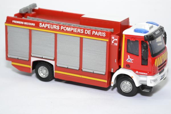 Iveco magirus rw sapeurs pompiers paris 75 bburago bur32052 autominiature01 3