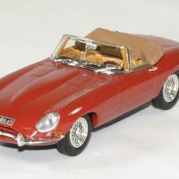 Jaguar type e 1961 cabriolet rouge norev 1 43 autominiature01 1