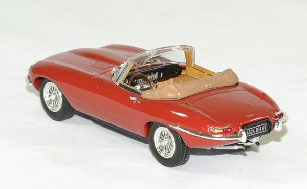 Jaguar type e 1961 cabriolet rouge norev 1 43 autominiature01 2