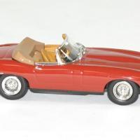 Jaguar type e 1961 cabriolet rouge norev 1 43 autominiature01 3
