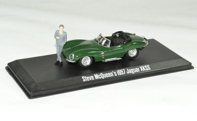 "Jaguar XKSS 1957 ""Steve Mc Queen collection 1930-1980"" avec figurine Steve Mc Queen"