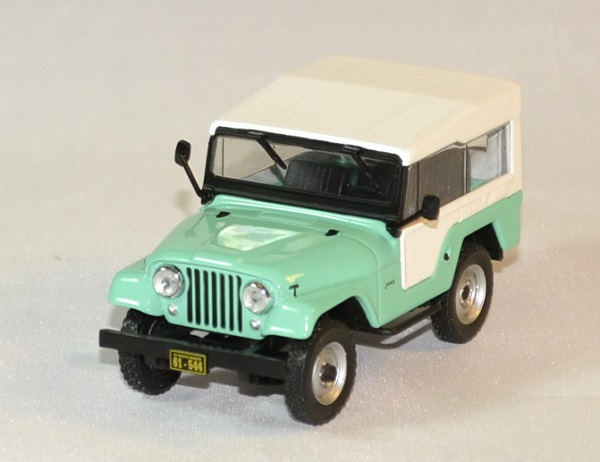 Jeep CJ 5 1963 Vert Blanc Miniature Whitebox 143 Wht234