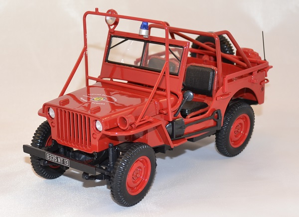 Jeep willys 1988 pompiers norev 1 18 autominiature01 com 1