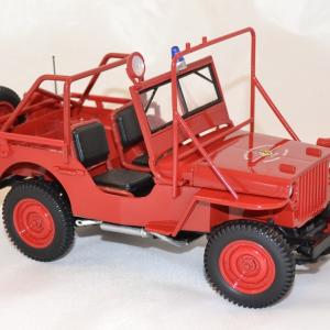 Jeep willys 1988 pompiers norev 1 18 autominiature01 com 2