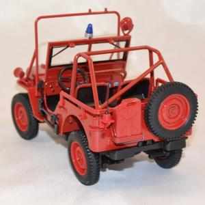 Jeep willys 1988 pompiers norev 1 18 autominiature01 com 3