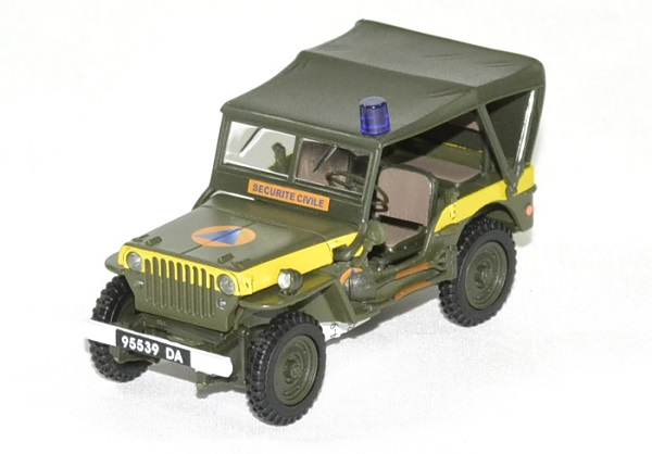 Jeep willys securite civile 1 43 oliex autominiature01 1