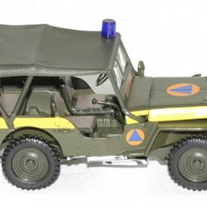 Jeep willys securite civile 1 43 oliex autominiature01 3