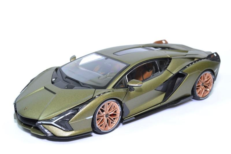 Lamborghini sian hybrid fkp37 2019 verte 1 18 bburago 11046 autominiature01 1 1