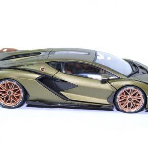 Lamborghini sian hybrid fkp37 2019 verte 1 18 bburago 11046 autominiature01 3
