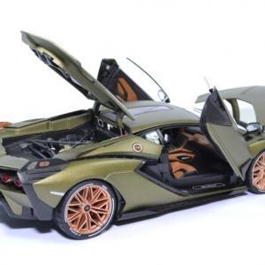 Lamborghini sian hybrid fkp37 2019 verte 1 18 bburago 11046 autominiature01 4