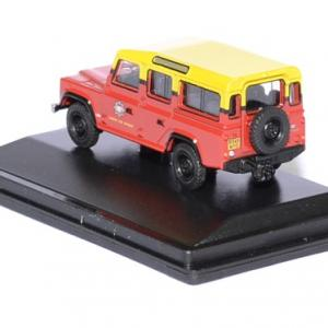 Land rover defender london pompier 1 76 oxford autominiature01 2