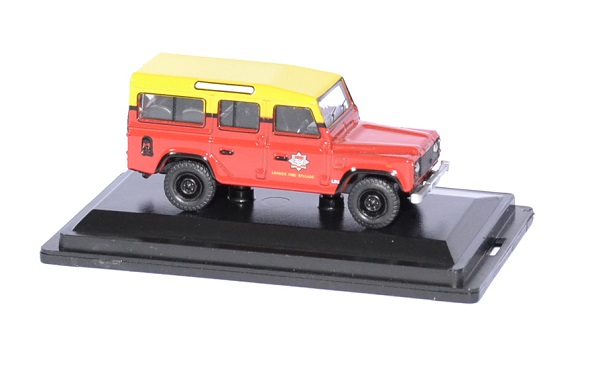 Land rover defender london pompier 1 76 oxford autominiature01 3