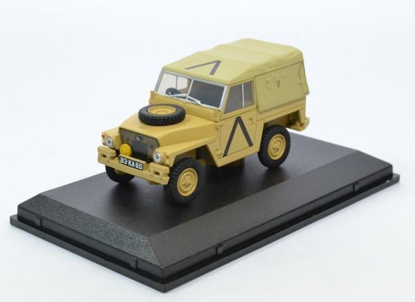 Land rover light canvas gulf war 1 43 oxford autominiature01 43lrl008 1