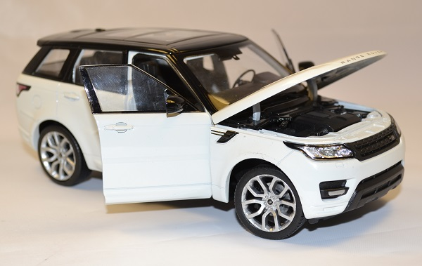 land rover range rover sport blanc miniature welly 1 24. Black Bedroom Furniture Sets. Home Design Ideas