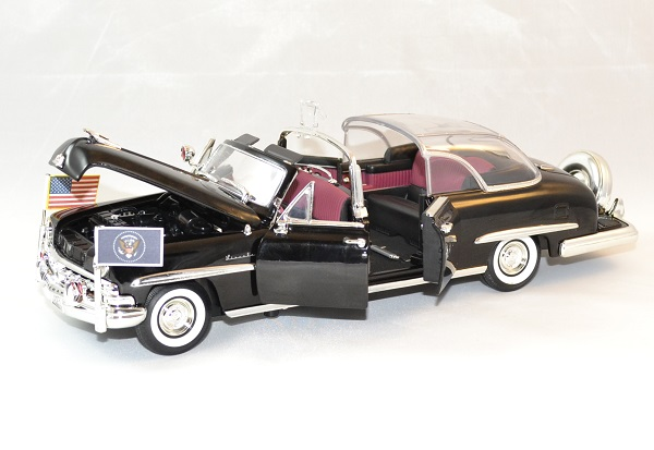 Lincoln continental bubbletop president usa 1950 lucky 1 24 autominiature01 2
