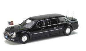 Cadillac presidential State Obama Noire 2009 stretch limousine Luxury 1/43