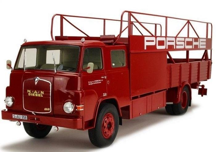 Man 635 racing transporter porsche 1 18 schuco autominiature01 1