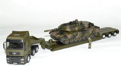 Man TGA surbaissé porte Char avec char Léopard