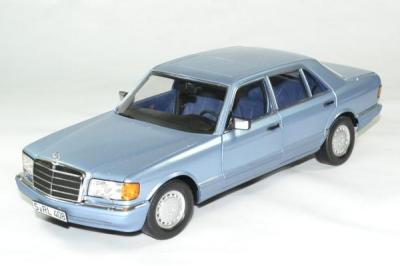 Mercedes 560 sel 1991 bleu 1 18 norev autominiature01 183464 1