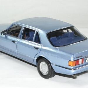 Mercedes 560 sel 1991 bleu 1 18 norev autominiature01 183464 2