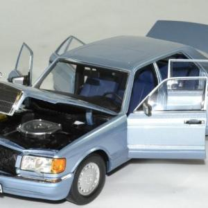 Mercedes 560 sel 1991 bleu 1 18 norev autominiature01 183464 3