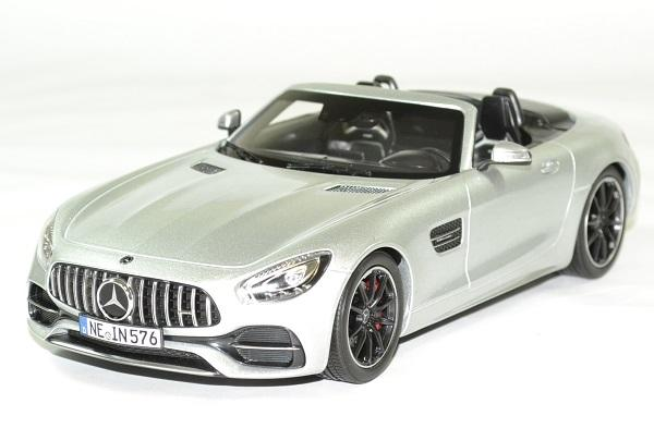Mercedes amg gt c roadster 2017 argent 1 18 norev autominiature01 1