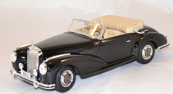 Mercedes benz 300 1955 noire 1 18 maisto autominiature01 com 1