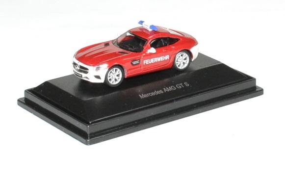 Mercedes benz amg gt pompier schuco 1 87 autominiature01 1
