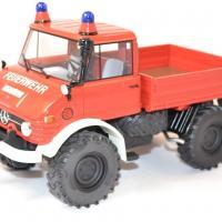 Mercedes benz unimog 406 pompier 1 18 miniature premium autominiature01 com 1