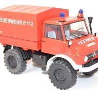 Mercedes benz unimog 406 pompier 1 18 miniature premium autominiature01 com 2