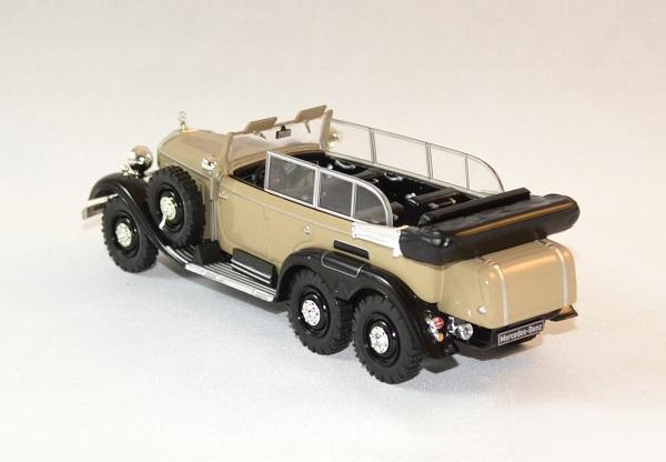 mercedes g4 1938 beige 6 roues miniature auto whitebox 1 43. Black Bedroom Furniture Sets. Home Design Ideas