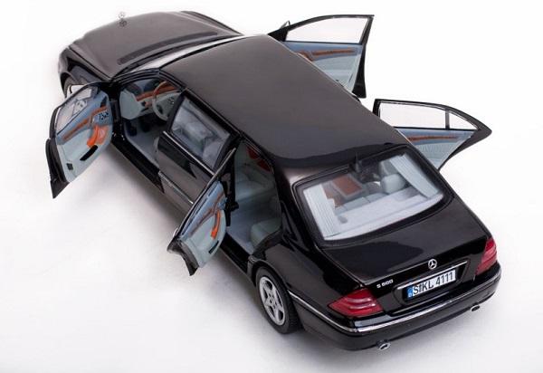 Mercedes s pullman 1 18 noire 2000 sunstar autominiature01 4