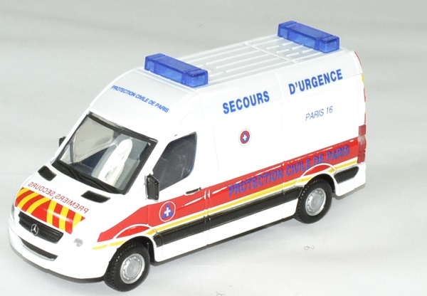 Mercedes sprinter protection civile paris 1 43 bburago autominiature01 1