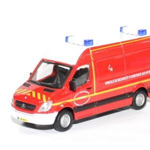 Mercedes sprinter vsav pompier 1 43 bburago autominiature01 1